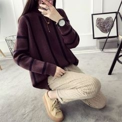 Qimi - 條紋長款毛衣