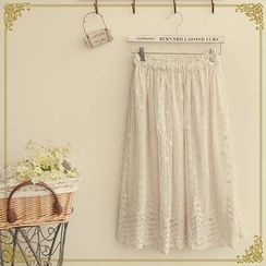 Fairyland - Embroidered Long Skirt