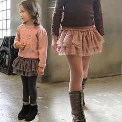 Cuckoo - Kids Legging Inset Ruffle Skirt