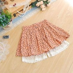 11.STREET - Dotted Pleated Skirt