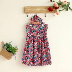 11.STREET - Floral Print Halter Dress