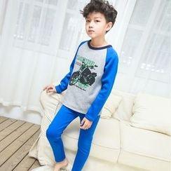 Pegasus - 童装套装: 印花长袖T恤 + 裤