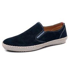 Van Camel - Genuine Leather Slip-Ons