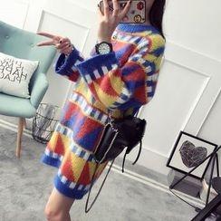 Qimi - Patterned Thick Knit Dress