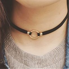 Roseate - Hoop Choker Necklace