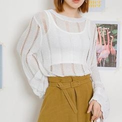 Heynew - Perforated Knit Top