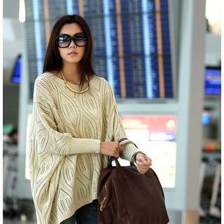 59 Seconds - Pocket-Front Oversized Sweater