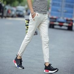 Chic Maison - Paneled Slim-Fit Pants