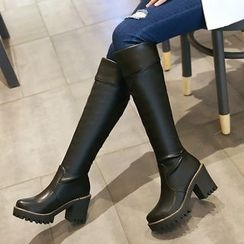 Gizmal Boots - 厚底粗跟高身靴