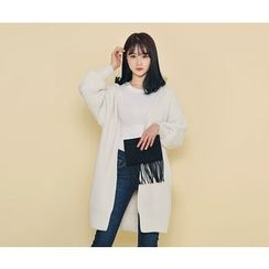 HOTPING - Open-Front Long Cardigan