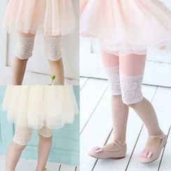 Seashells Kids - Kids Lace Hem Leggings