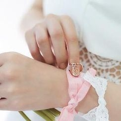 Ticoo - Filigree Rose Nail Ring