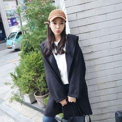 Envy Look - Wool Blend Hooded Coat