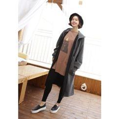 Lemite - Cotton Hooded Zip Coat