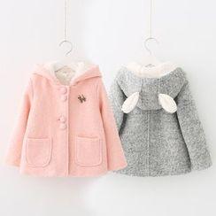 貝殼童裝 - 童裝小兔耳朵連帽夾克