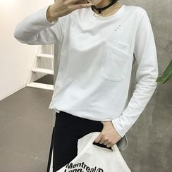 EKOOL - Long-Sleeve Layer Pocket T-Shirt