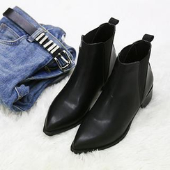 NANING9 - Band-Trim Ankle Boots