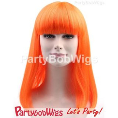 Party Wigs - PartyBobWigs - Party Long Bob Wigs - Orange