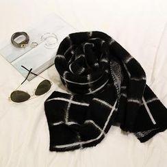 NANING9 - Wool Blend Check Scarf