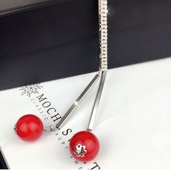 HEDGY - Ball Rhinestone Long Necklace