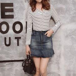 Romantica - Long-Sleeve Striped T-Shirt
