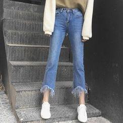 RASA - Fray Boot-cut Jeans