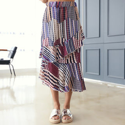 DANI LOVE - Patterned Tiered Skirt