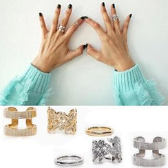 Ticoo - Set of 3: Knuckle Rings