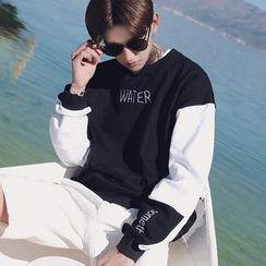 ZZP HOMME - Color Block Sweatshirt