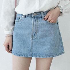 Eva Fashion - Denim A-Line Skirt