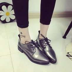 Laceuplux - Pointy Lace-Up Shoes