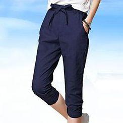 Hazie - Bow Capri Pants