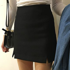 Dute - Slit Mini Skirt