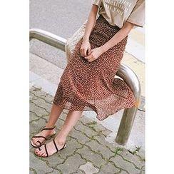 CHERRYKOKO - Dotted Long Skirt