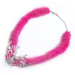 MIPENNA - Pink Dream Snow Deer Necklace