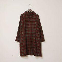 tete - Plaid Shirtdress