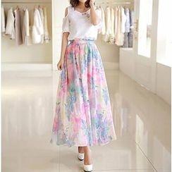 Jolly Club - Maxi Floral Skirt
