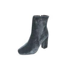 DABAGIRL - Chunky-Heel Velvet Ankle Boots