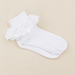 Skool - Lace Trim Socks