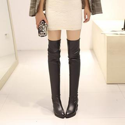 Pangmama - Over-the-Knee Wedge Boots