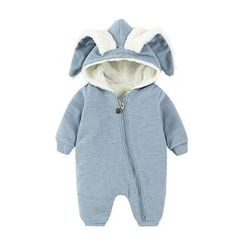 MOM Kiss - Baby Rabbit Ear Hooded One-Piece