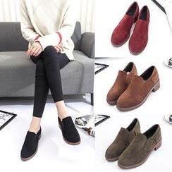 IYATO - Chunky Heeled  Slip-on Loafers