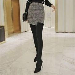 TOM & RABBIT - Glen-Plaid Wool Blend Mini Skirt