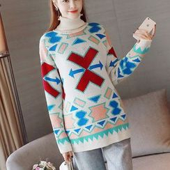 Bera Bera - Patterned Maternity Sweater