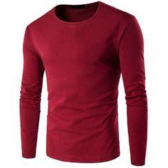 Fireon - Plain Long-Sleeve T-Shirt
