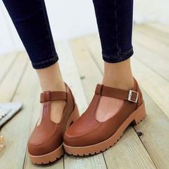 Pretty in Boots - T-strap Flats