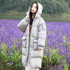 Ashlee - Hooded Padded Long Coat