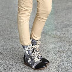 SO Central - Camouflage Lace-Up Boots