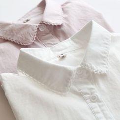 布丁坊 - 蕾絲邊襯衫