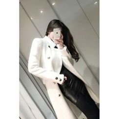 ATTYSTORY - High-Neck Wool Blend Coat
